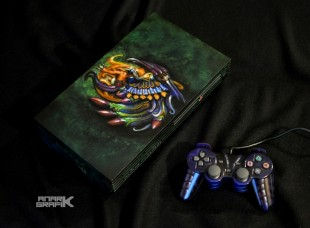 Playstation 2 Custom Final Fantasy X/Bahamut by Anark Grafik