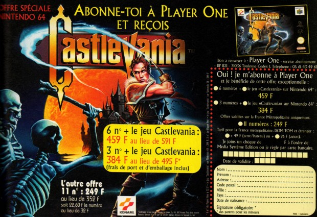 player one castlevania 64