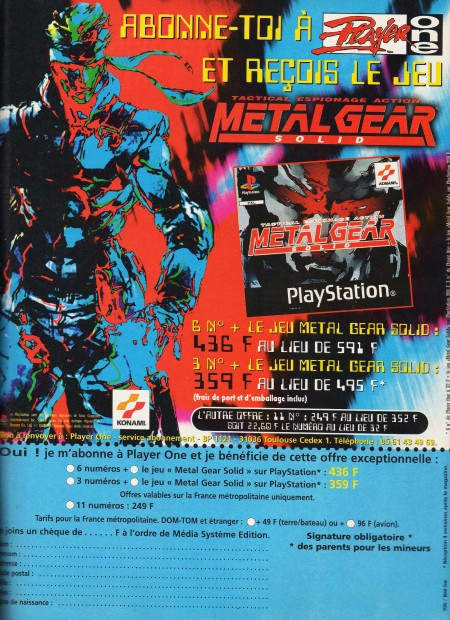 player one metal gear