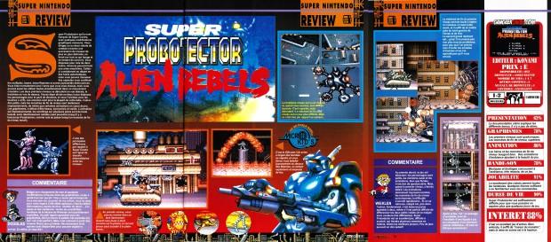 Consoles + test super probotector novembre 1992