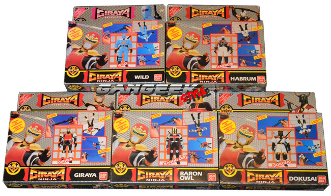 Giraya Ninja carton boxes FR