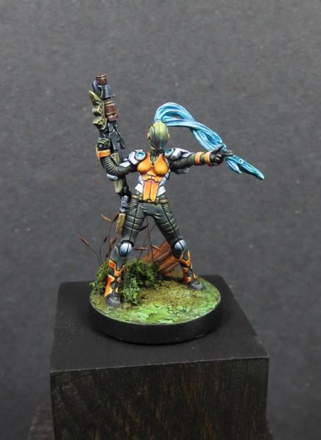 wildcat, première figurine de mon armée Nomades - Infinity