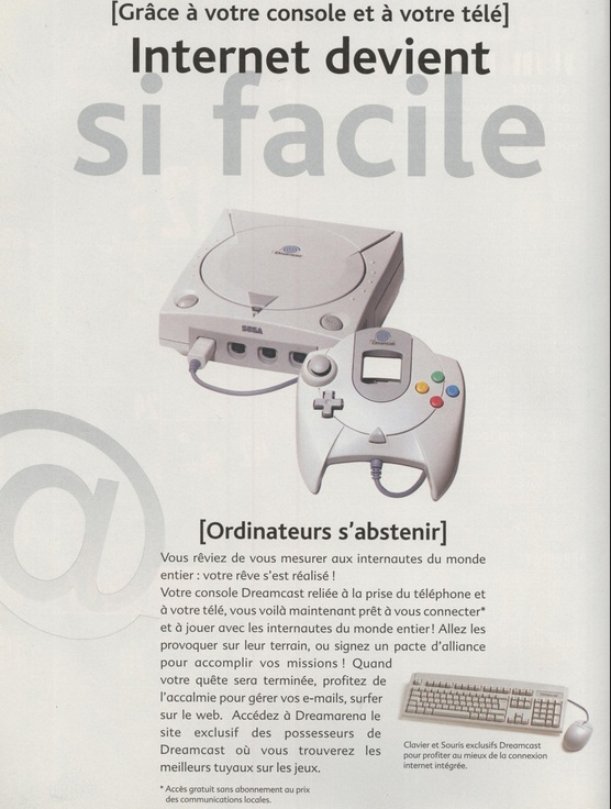 dreamcast internet facile pub