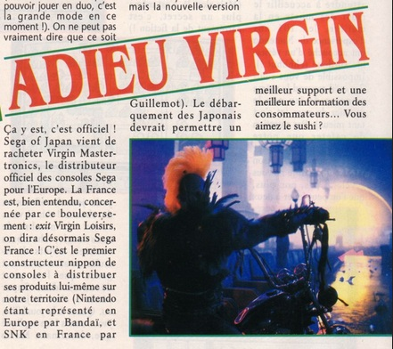virgin loisirs sega france