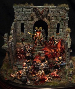 Conception du diorama la rage noire des Blood Angels
