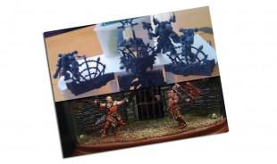 Conception du diorama The Khorne Battle Arena