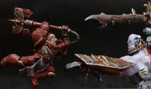 Conception du diorama Blood Angel vs Slaanesh