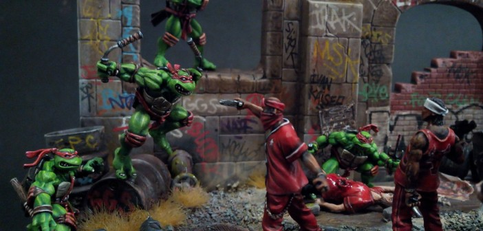 Diorama : Teenage Mutant Ninja Turtles fight crime !