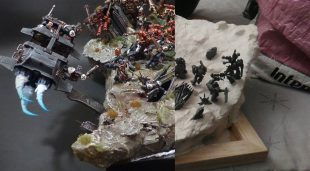 Conception du diorama Black Templar
