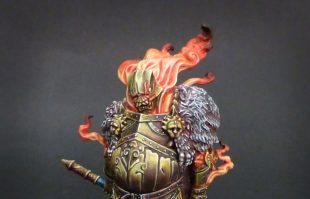 Kingdom Death : Golden Smoke Knight.
