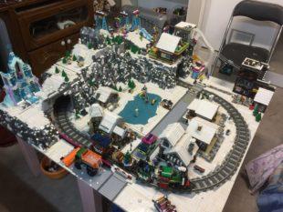Maquette Lego Noël / la station de ski