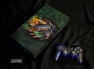 Playstation 2 Custom Final Fantasy X/Bahamut by Anark Grafik