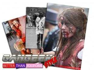 Blandine: une cosplayeuse zombie avide de sang frais