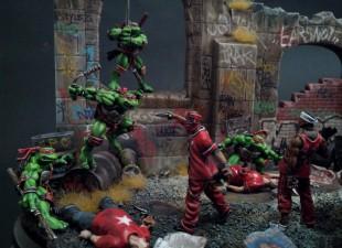Diorama : Teenage Mutant Ninja Turtles fight crime !